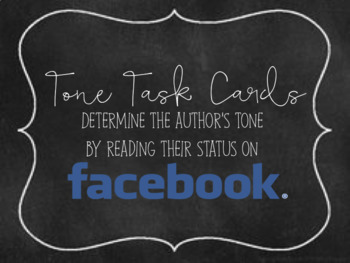 Tone Task Cards: Using Facebook Status Updates