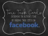 Tone Task Cards: Using Facebook Status Updates