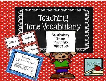 Tone Vocabulary Terms and Task Cards