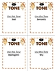 Tone Whole Class Activity Reading Sentences with Different Tones