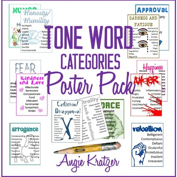 Tone Word Categories Poster Pack