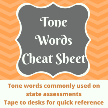 Tone Word Cheat Sheet