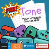 Tone Words - Free Resource