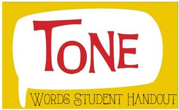 Tone Words Handout
