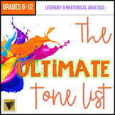 The ULTIMATE Tone List: Tone Words by Concept and Connotation Student Reference
