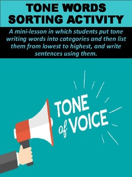 Tone Words Sorting Activity