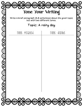 Tone Your Writing