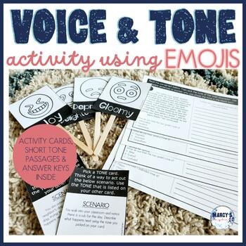 Emoji Activity for Tone & Voice 3rd, 4th & 5th grade