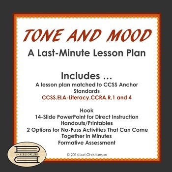 Tone and Mood:  A Last-Minute Lesson with PowerPoint, Handouts