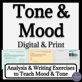 Tone and Mood Activities | Google Drive Distance Learning