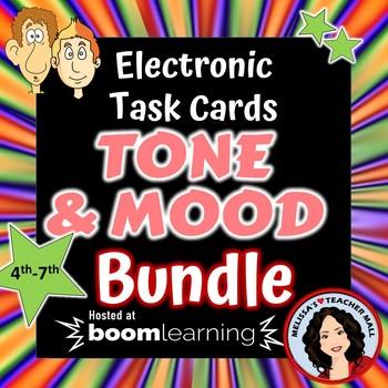 Tone and Mood Boom Cards Digital Task Cards Bundle
