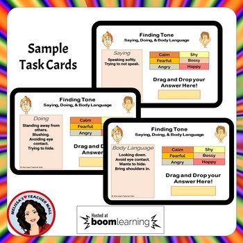 Tone and Mood Boom Cards Digital Task Cards Set 2