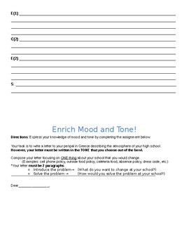 Tone and Mood Differentiation (RME)
