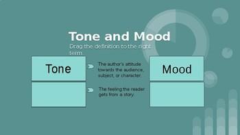 Tone and Mood Google Classroom Interactive Activity
