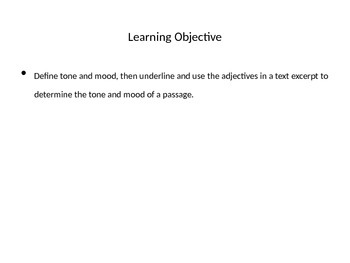 Tone and Mood Lesson Plan PPT