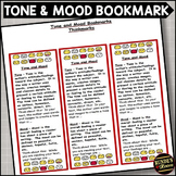 Tone and Mood - Literary Element Bookmark