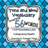 Tone and Mood Vocabulary
