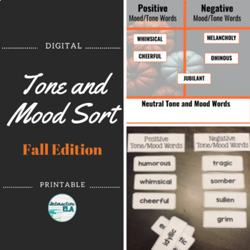 Tone and Mood Word Sort: Halloween Edition