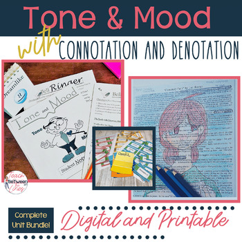Tone And Mood In Literature Bundle Connotation Denotation