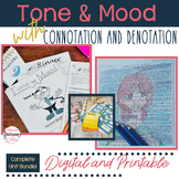 Tone and Mood in Literature BUNDLE + Connotation & Denotat