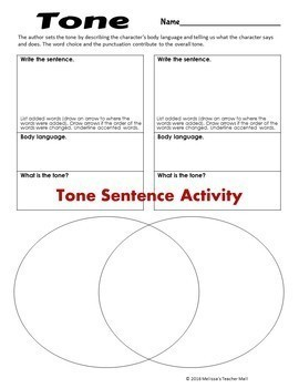 Tone and Tone & Mood Bundle 6 Activities and 2 Games