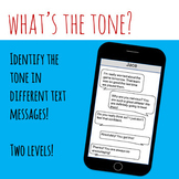 Tone in Text Messages Two Levels for Easy Differentiation