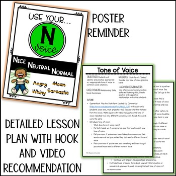 Tone of Voice Lesson Plan or Small Group Session