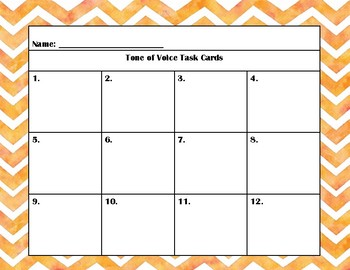 Tone of Voice Task Cards