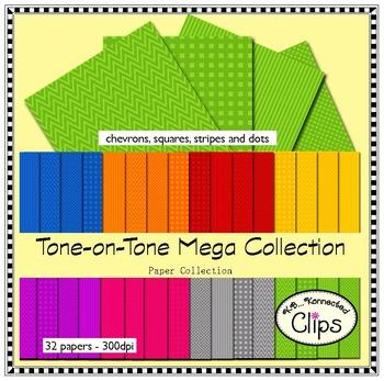 Tone-on-Tone Mega Paper Collection - Clip Art
