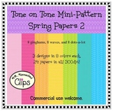 Tone on Tone Mini-Pattern Spring Papers 2