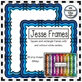 Tone-on-Tone Square & Rectangle Clip Art Frames - The Jess
