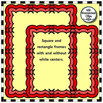 Tone-on-Tone Square & Rectangle Clip Art Frames - The Jesse Collection