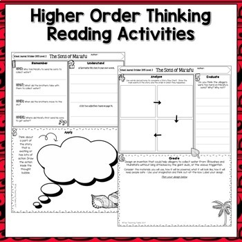 Tonga Close Up Reading Comprehension Journal and Reader Activities (NZ)