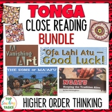 Tonga Close Up Reading Comprehension BUNDLE | Pacific Islands
