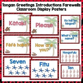 Tongan Greetings Introductions Farewells Classroom Display Posters