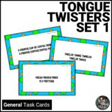 Tongue Twister Alliteration Activity Task Cards - Set 1