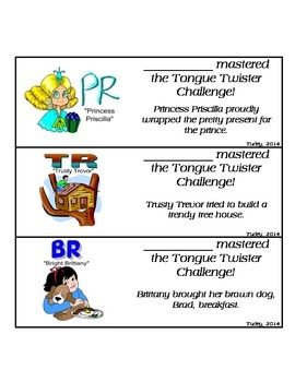 Tongue Twister Artic Bookmarks: R Consonant Clusters