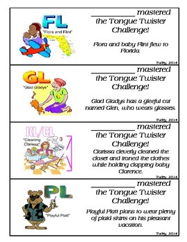 Tongue Twister Bookmarks ALL: /r, s, l/-blends, /s, z, ch, sh, th, j, zh/