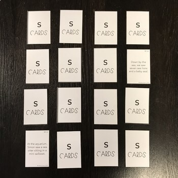 Tongue Twister Card Deck for /s/