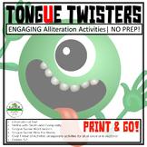 Fluency Activities  Tongue Twisters   Alliteration Activities