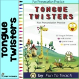 Tongue Twisters Pronunciation Word Wall and Posters