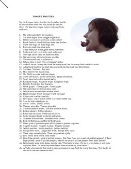 45 Tongue Twisters