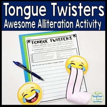 Tongue Twisters: An Awesome & Amazing Alliteration Activity!