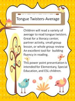 Tongue Twisters-Average Ability