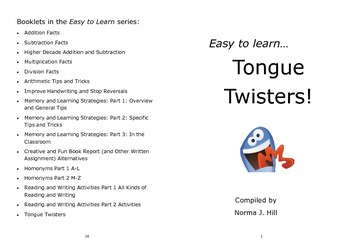 Tongue Twisters - Easy to Learn Series