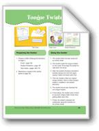 Tongue Twisters (File Folder Center)