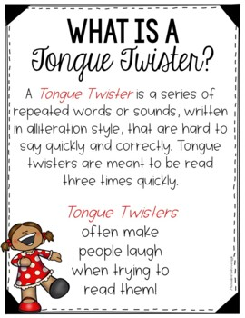 Tongue Twisters and Alliteration Free