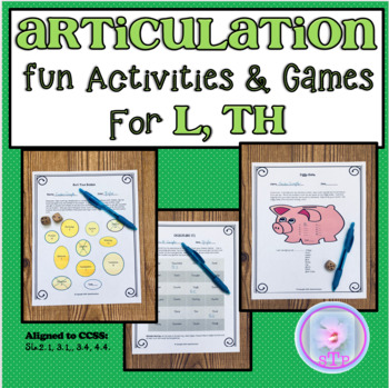 Articulation Fun with L,TH- Tongue Twisters and Other Fun Activities