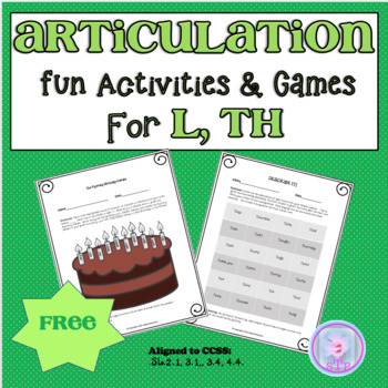 Articulation Fun with L.TH- Tongue Twisters and Other Fun Activities