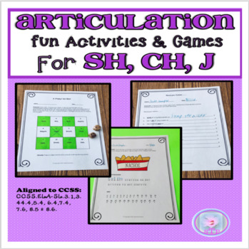 Articulation Fun Activities and Games for SH, CH, and J